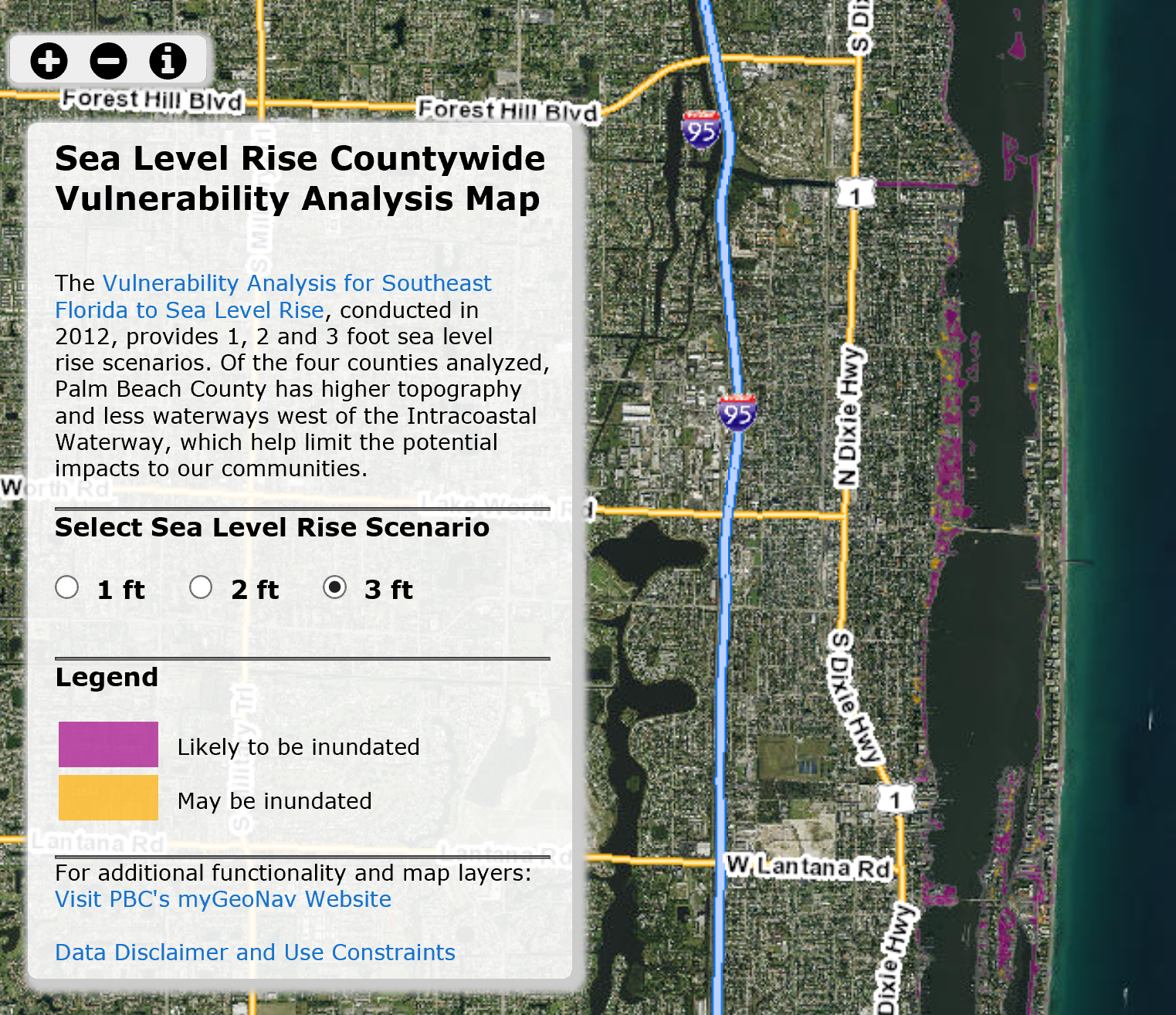 PBC Sea Level Rise Tool - thumbnail image