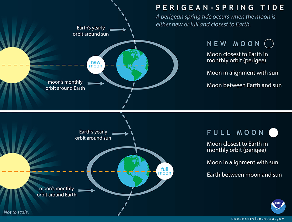 Perigean Spring Tide graphic