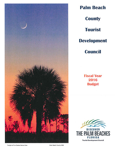Cover of TDC Budget Book, 2016