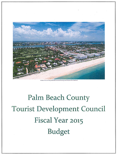 Cover of TDC Budget Book, 2015