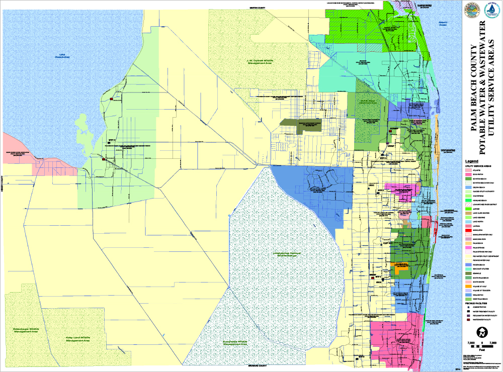 Water Utilities Service Area Map