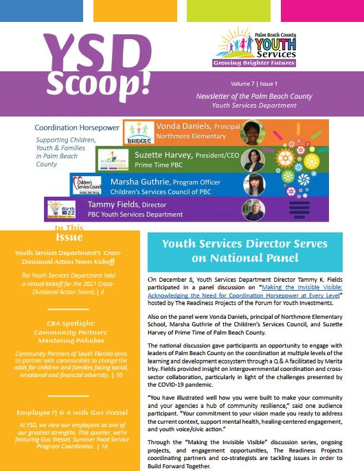 YSD scoop newsletter image