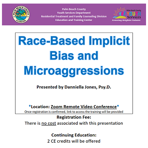 Race-Based Implicit Bias and Microaggressions flyer