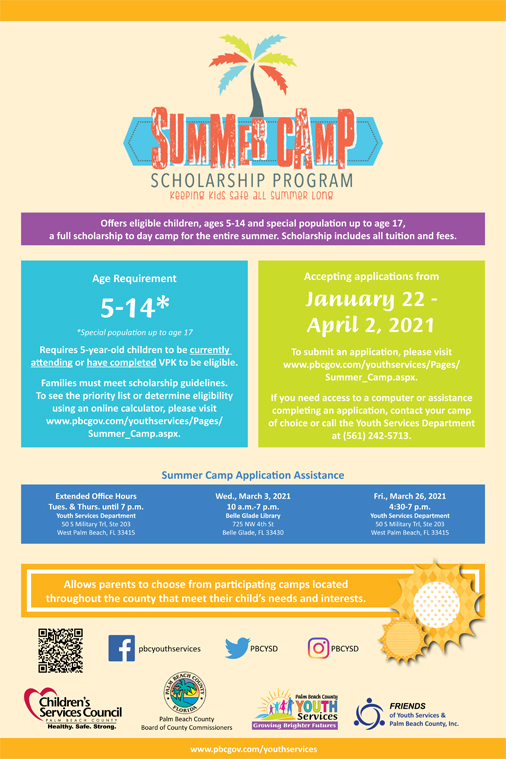 Youth Services Summer Camp Scholarship Program
